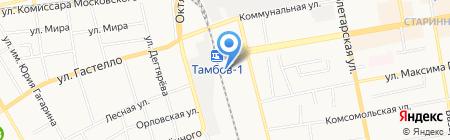 Сувениры Тамбова на карте Тамбова