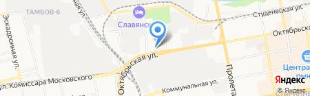 Отель на карте Тамбова