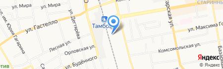 Тамбовский производственный участок Юго-Восточной дирекции по управлению терминально-складским комплексом на карте Тамбова