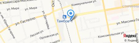 Пригородный железнодорожный вокзал г. Тамбова на карте Тамбова