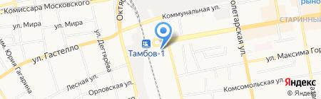 Экспресс на карте Тамбова