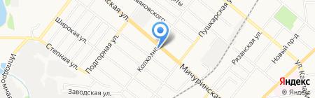 Мельба на карте Тамбова