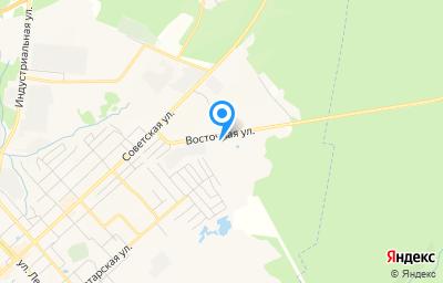 Местоположение на карте пункта техосмотра по адресу Рязанская обл, г Касимов, ул Восточная, д 6