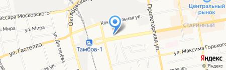 Раковая №1 на карте Тамбова