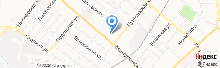 Детский сад №40 Русалочка на карте Тамбова