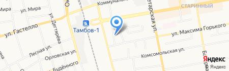 Лаврова-5 на карте Тамбова