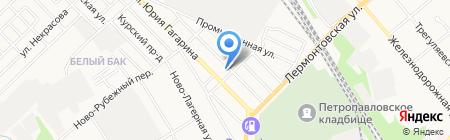 Социальная баня на ул. Юрия Гагарина на карте Тамбова
