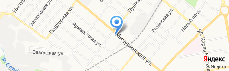 Клякса на карте Тамбова