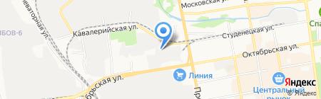 Кафе на Успенской на карте Тамбова