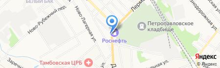 Продовольственный магазин на Лермонтовской на карте Тамбова