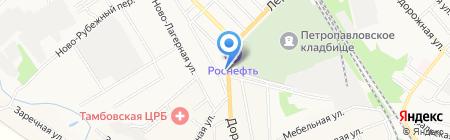 Магазин автозапчастей на Лермонтовской на карте Тамбова