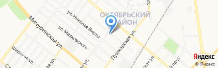 Отделение почтовой связи №16 на карте Тамбова