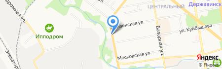 Шиномонтажная мастерская на Пролетарской на карте Тамбова