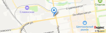 Успенская на карте Тамбова