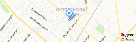 Детский сад №51 Красная шапочка на карте Тамбова