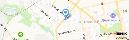 Рыбачок на карте Тамбова