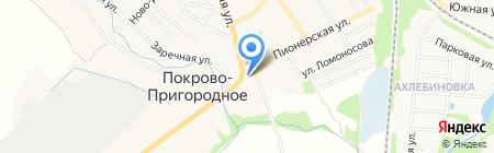 Автомойка на Садовой на карте Тамбова