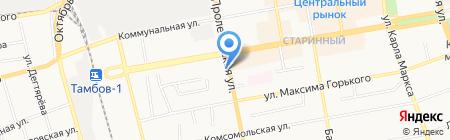 Максимовские колбасы на карте Тамбова