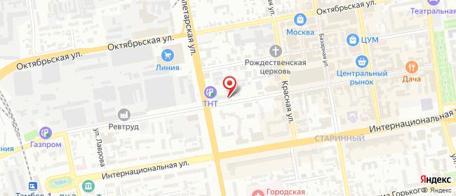 Карта расположения пункта доставки Билайн в городе Тамбов