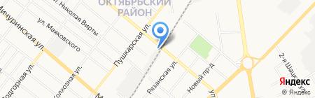 Шиномонтажная мастерская на ул. Карла Маркса на карте Тамбова