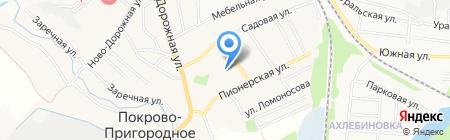 Покрово-Пригородная средняя общеобразовательная школа на карте Тамбова