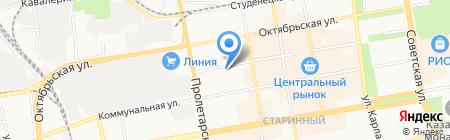 Отдел по социальным вопросам и труду на карте Тамбова