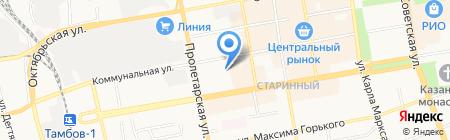 Губернская на карте Тамбова