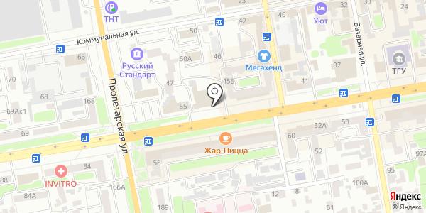 Адвокатский кабинет №134. Схема проезда в Тамбове
