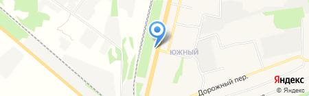 Магазин автозапчастей на Придорожной на карте Строителя