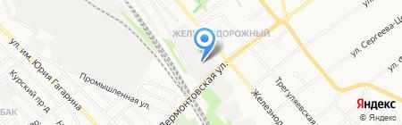 Автостоянка на Лермонтовской на карте Тамбова