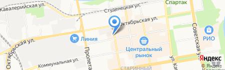 ГУТА-БАНК на карте Тамбова