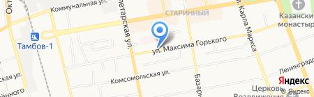 Шиномонтажная мастерская на ул. Максима Горького на карте Тамбова