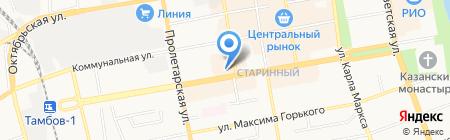 Скат на карте Тамбова