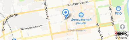 Стекло на Красной на карте Тамбова