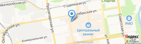 Автостоянка на Красной на карте Тамбова