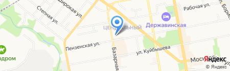 Пенный дворик на карте Тамбова