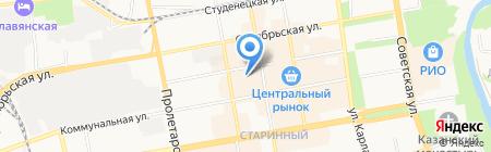 Магазин верхней одежды на карте Тамбова