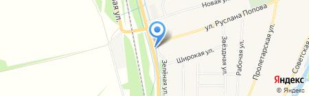 Грузовая шиномонтажная мастерская на ул. Руслана Попова на карте Бокино