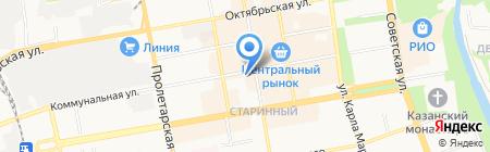 Магазин мебели на Коммунальной на карте Тамбова