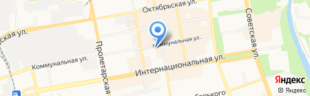 Служивый на карте Тамбова