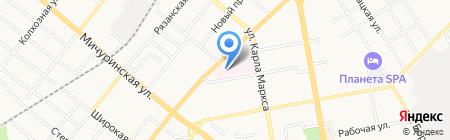 Городская клиническая больница №3 на карте Тамбова