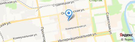 Магазин косметики на ул. Коммунальная на карте Тамбова