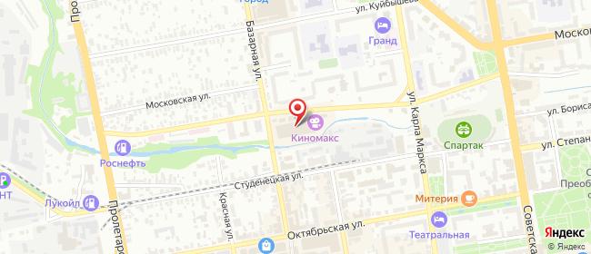 Карта расположения пункта доставки Тамбов Студенецкая набережная в городе Тамбов