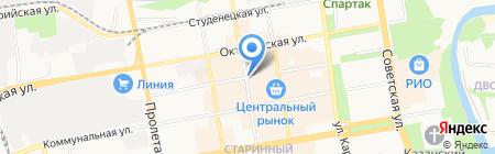 Магазин сантехники на Коммунальной на карте Тамбова