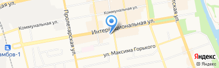 Роза Ветров на карте Тамбова