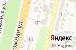 Схема проезда до компании Шиномонтажная мастерская в Строителе