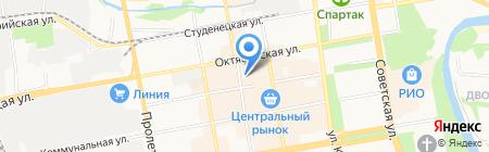 Магазин головных уборов на Коммунальной на карте Тамбова