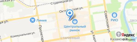 Магазин штор на Коммунальной на карте Тамбова