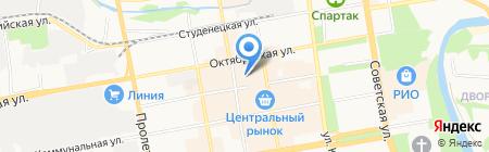 Магазин домашнего текстиля на Коммунальной на карте Тамбова