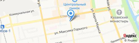 Тамбовский бекон на карте Тамбова